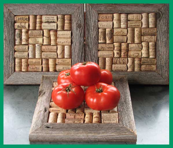 tomatoes and corkboards